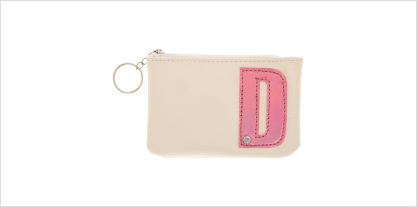 Go to Product: White Faux Leather Pink Initial D Coin Purse from Claires