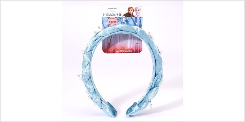 Go to Product: ©Disney Frozen 2 Suede Braided Headband – Blue from Claires