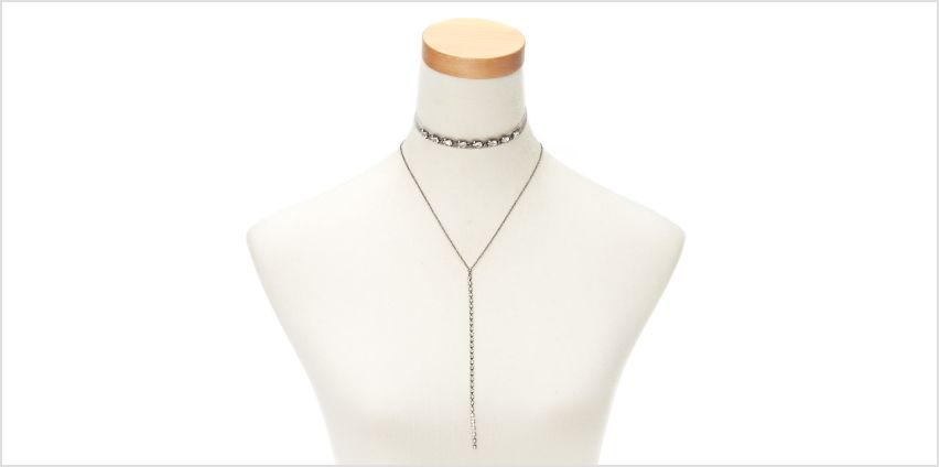 Go to Product: Hematite Velvet Glam Necklaces - 2 Pack from Claires