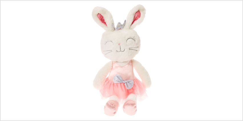 Claire's Club Large Claire the Bunny Soft Toy from Claires