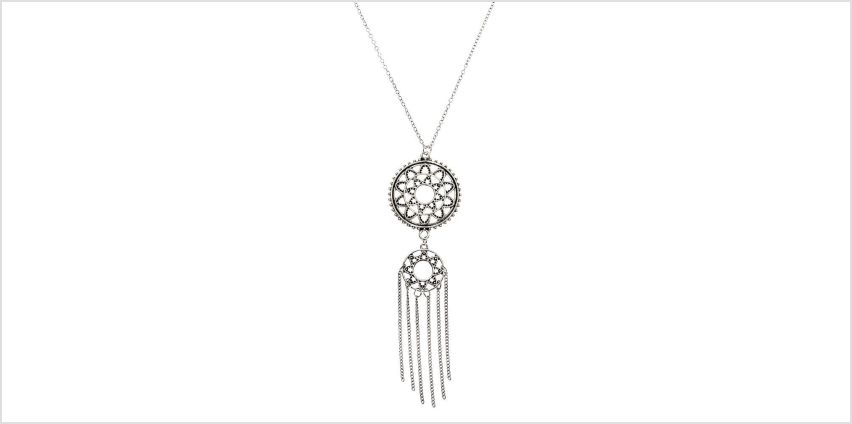 Go to Product: Silver Boho Medallion Long Pendant Necklace from Claires