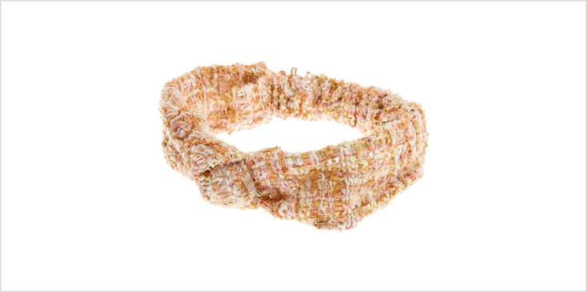 Go to Product: Pink & Gold Tweed Knotted Headwrap from Claires