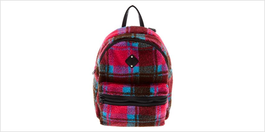 Go to Product: Plaid Sherpa Midi Backpack from Claires