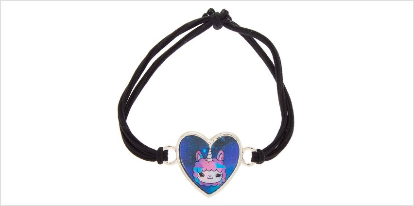 Go to Product: Lala the Llamacorn Holographic Stretch Bracelet from Claires