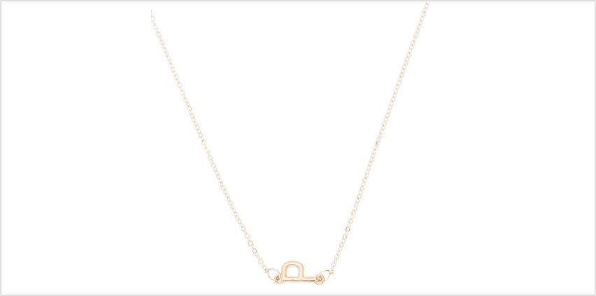 Go to Product: Mixed Metal Sideways Initial Pendant Necklace - P from Claires