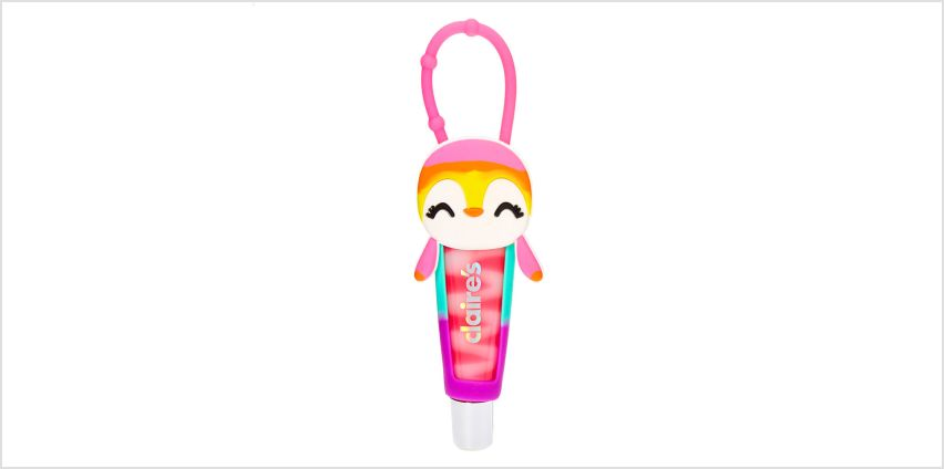 Go to Product: Rainbow Penguin Lip Gloss Tube - Cotton Candy from Claires