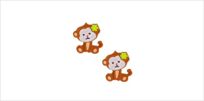 Go to Product: Monkey Business Stud Earrings - Brown from Claires
