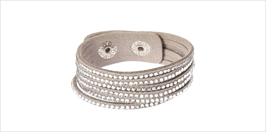 Go to Product: Studded Layered Wrap Bracelet - Grey from Claires