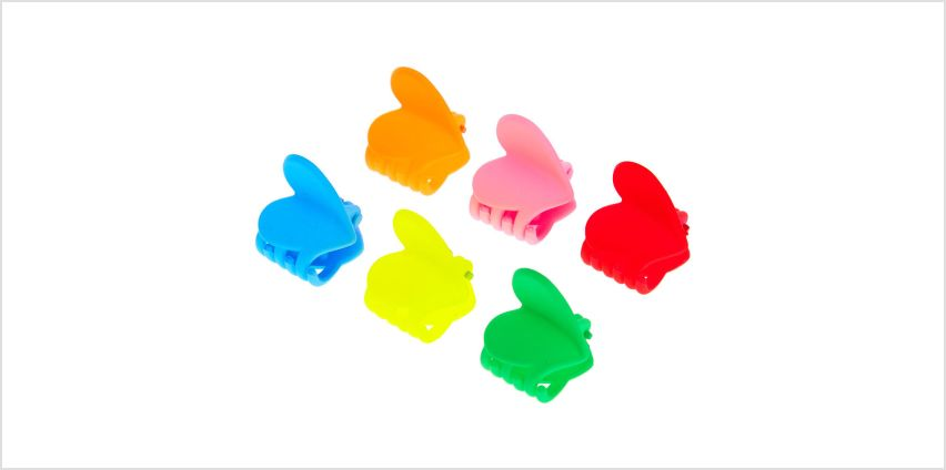 Go to Product: Matte Neon Heart Mini Hair Claws - 6 Pack from Claires