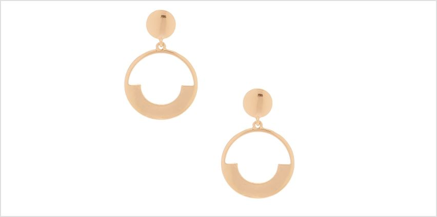 """Go to Product: Gold 2"""" Door Knocker Drop Earrings from Claires"""