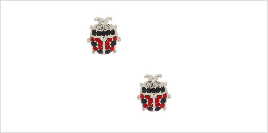 Go to Product: Silver Crystal Ladybug Stud Earrings from Claires