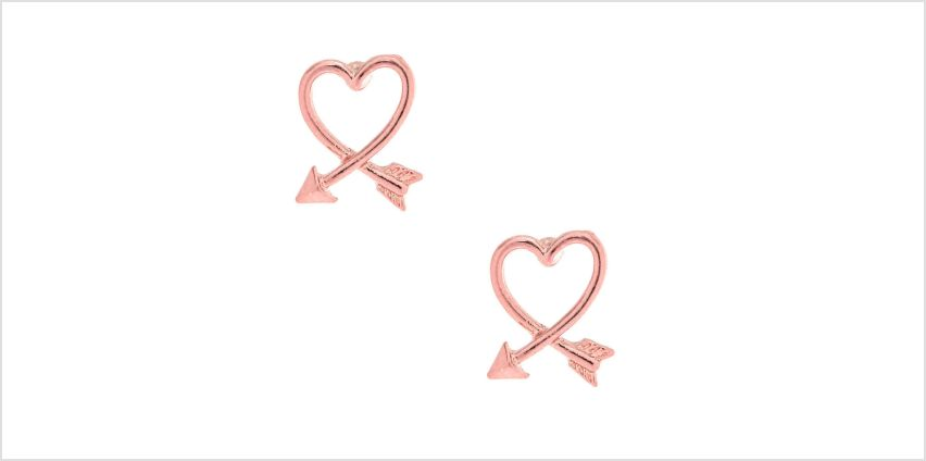 Go to Product: Pink Arrow Heart Stud Earrings from Claires