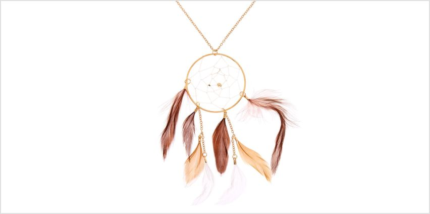 Go to Product: Gold Dreamcatcher Long Pendant Necklace - Brown from Claires