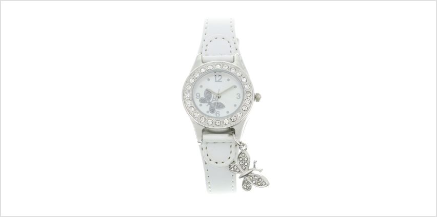 White Butterfly Charm Wrist Watch from Claires