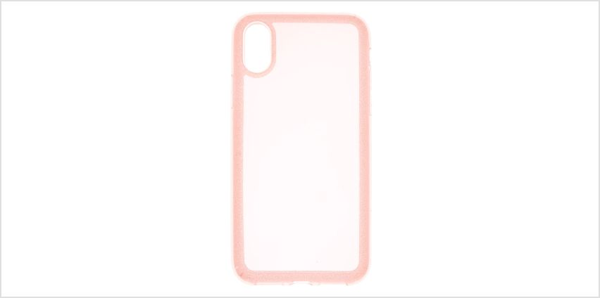 Go to Product: Pink Glitter Border Phone Case - Fits iPhone X/XS from Claires