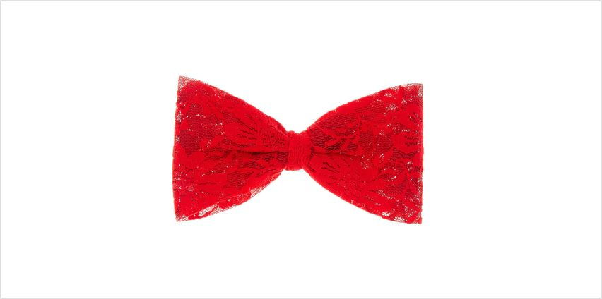 Go to Product: Lace Hair Bow Clip - Red from Claires