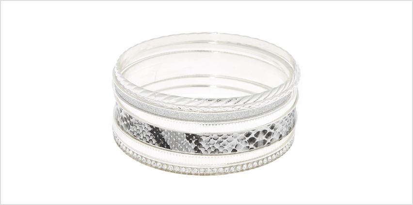 Go to Product: Silver Snake Skin Bangle Bracelets - 7 Pack from Claires