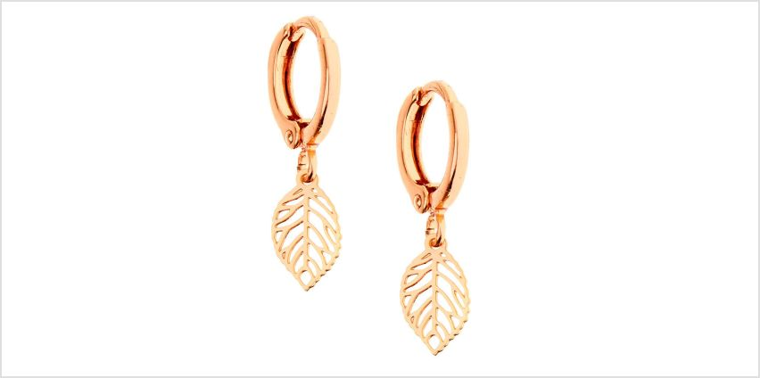Go to Product: 18kt Rose Gold Plated Leaf Huggie Hoop Earrings from Claires