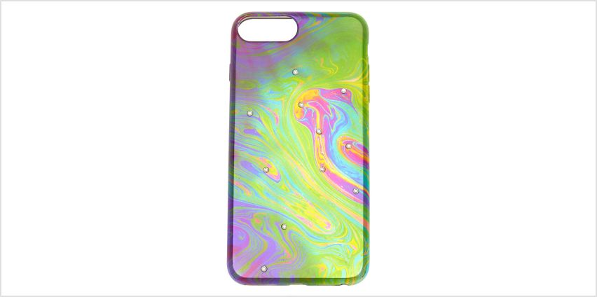 Go to Product: Oil Slick Stone Studded Phone Case - Fits iPhone 6/7/8 from Claires