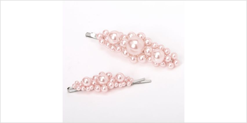 Go to Product: Chunky Pearl Hair Pins - Blush Pink, 2 Pack from Claires