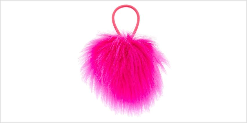 Go to Product: Pink Pom Hair Elastic from Claires
