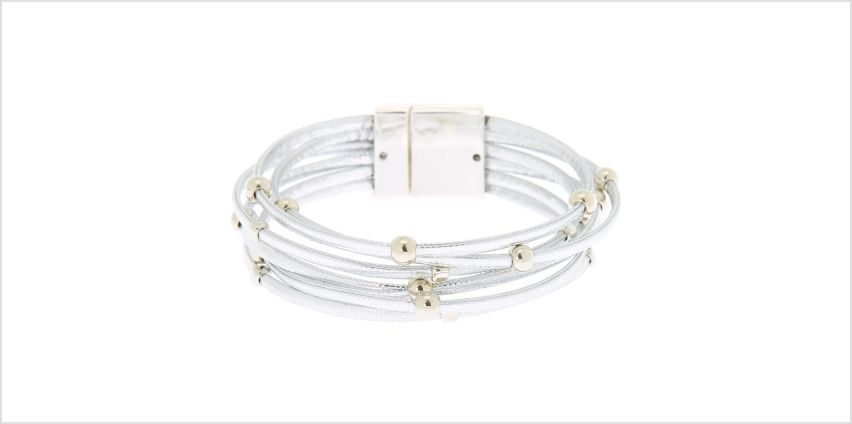 Go to Product: Stacked Cord Wrap Bracelet - Silver from Claires