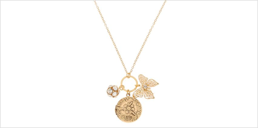 Go to Product: Gold Charm Locket Pendant Necklace from Claires