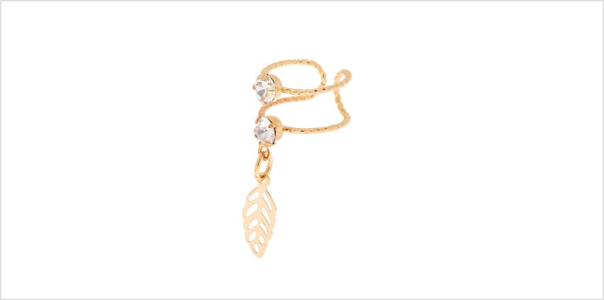 Go to Product: Gold Double Band Leaf Charm Ear Cuff from Claires