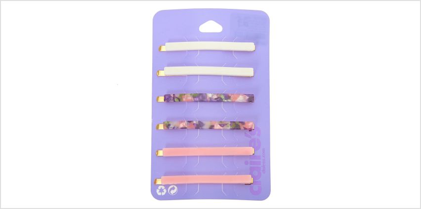 Go to Product: Pretty Pink Tortoiseshell Hair Pins - 6 Pack from Claires