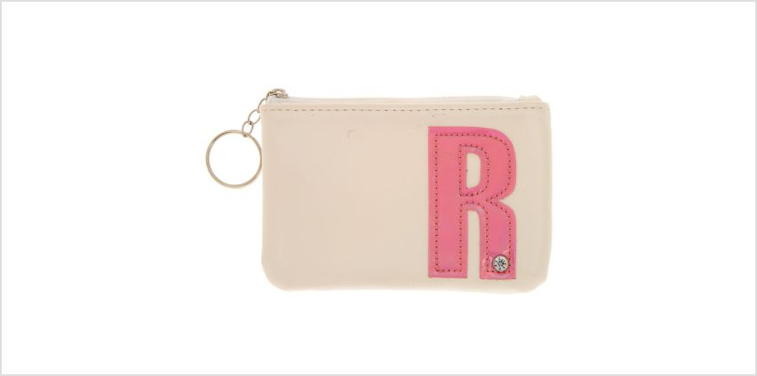 Go to Product: White Faux Leather Pink Initial Coin Purse - R from Claires