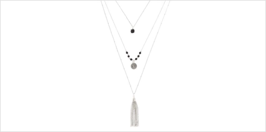 Go to Product: Silver Tassel Multi Strand Necklace from Claires