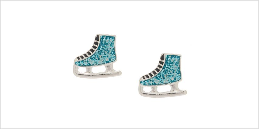 Go to Product: Glitter Ice Skate Stud Earrings - Blue from Claires