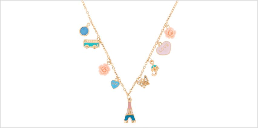 Go to Product: European Traveller Charm Statement Necklace from Claires