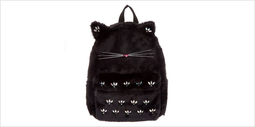 Go to Product: Plush Gem Cat Backpack - Black from Claires