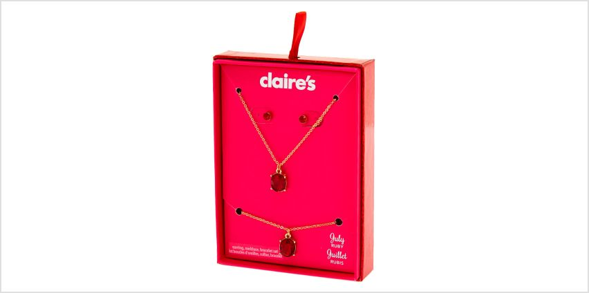 Go to Product: July Birthstone Jewellery Gift Set - Ruby, 3 Pack from Claires