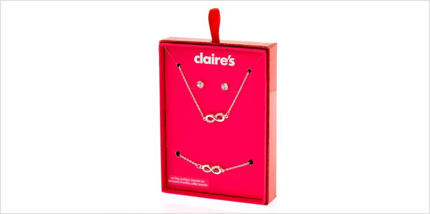 Go to Product: Silver Infinity Jewellery Gift Set - 3 Pack from Claires