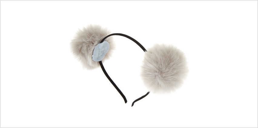 Go to Product: Pom Pom Cat Ears Headband - Grey from Claires