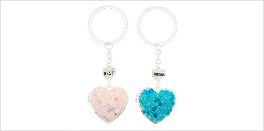 Go to Product: Best Friends Open Heart Locket Keychains - 2 Pack from Claires