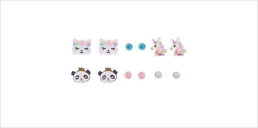 Go to Product: Fierce Friends Stud Earrings - 6 Pack from Claires