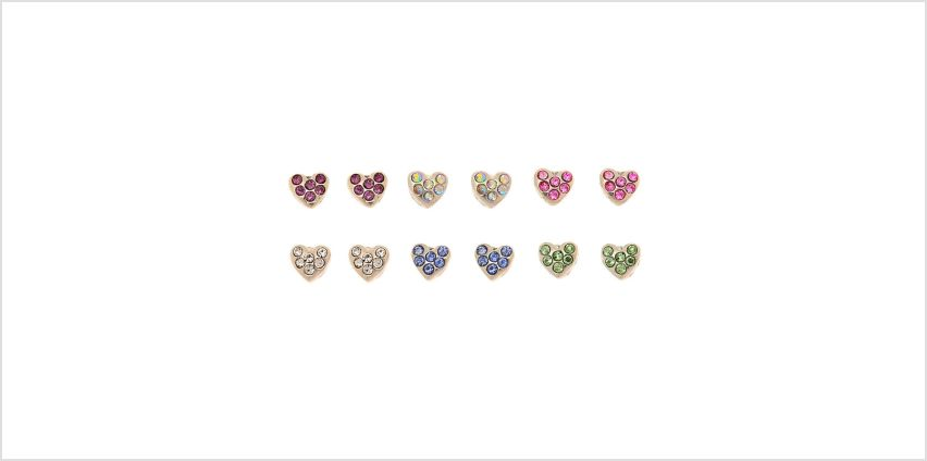 Go to Product: Silver Heart Magnetic Stud Earrings - 6 Pack from Claires