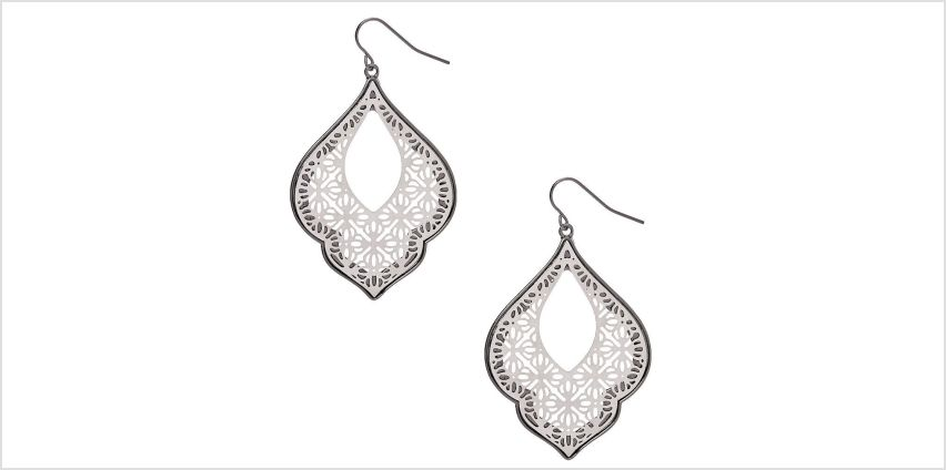 "Go to Product: Silver 2"" Filigree Drop Earrings from Claires"
