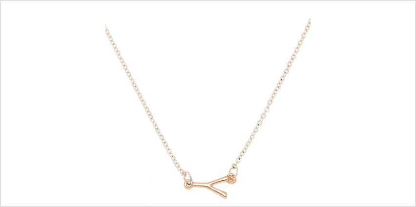 Go to Product: Mixed Metal Sideways Initial Pendant Necklace - Y from Claires