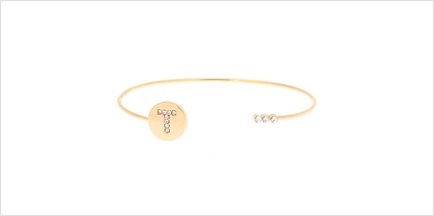 Go to Product: Gold Initial Cuff Bracelet - T from Claires