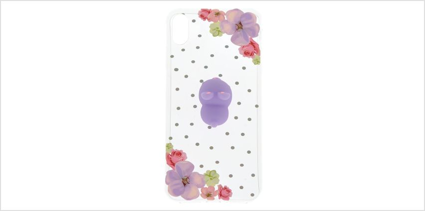 Go to Product: Clear Floral Bunny Squish Phone Case - Fits iPhone XS Max from Claires
