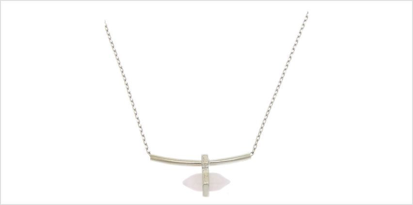 Go to Product: Rose Quartz Compassion Bar Pendant Necklace from Claires