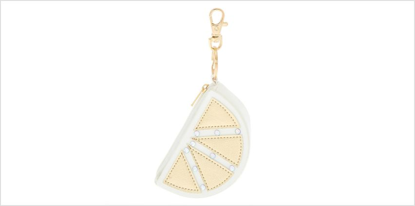 Go to Product: Lemon Coin Purse Keychain - White from Claires