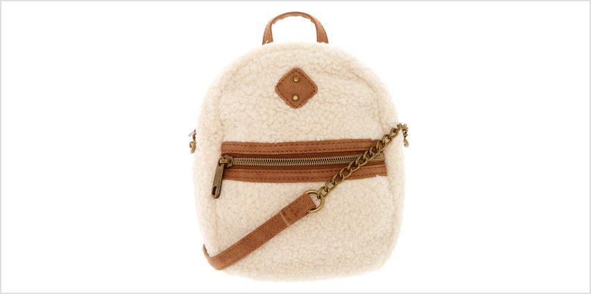 Go to Product: Mini Sherpa Crossbody Backpack from Claires