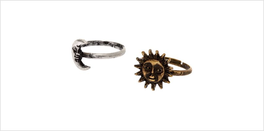 Go to Product: Best Friends Sun & Moon Rings from Claires