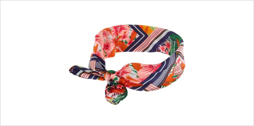 Go to Product: Tropical Silk Knotted Bandana Headwrap from Claires