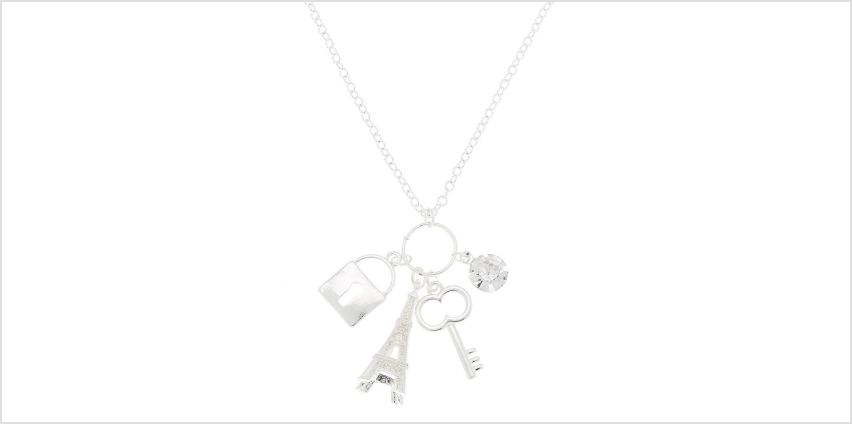 Go to Product: Silver Eiffel Tower Long Necklace from Claires